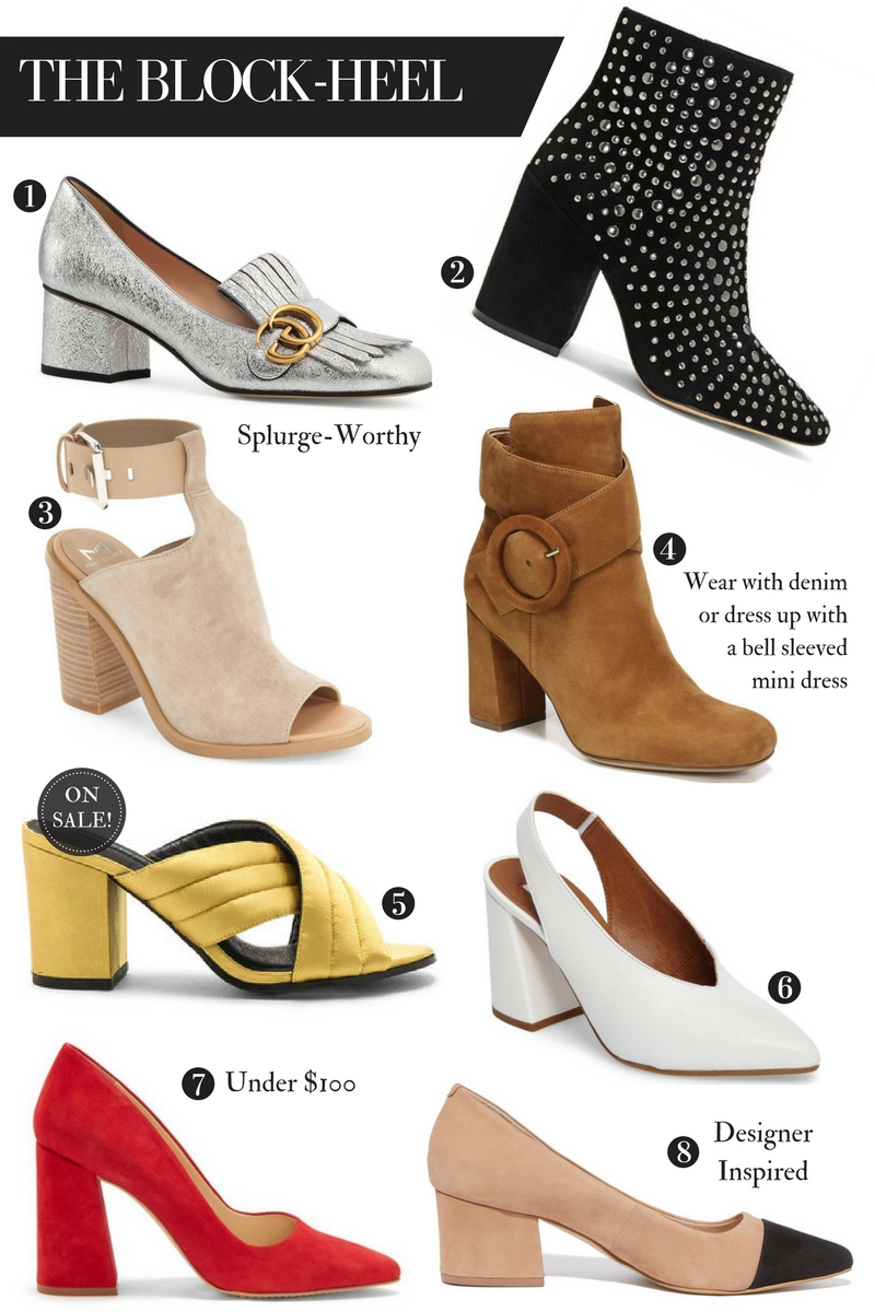 8 must-have block-heel styles to amp up your fall wardrobe!