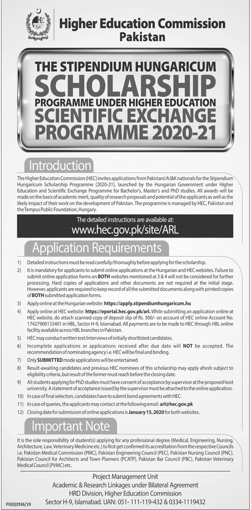 Higher Education Commission Pakistan Jobs 2020