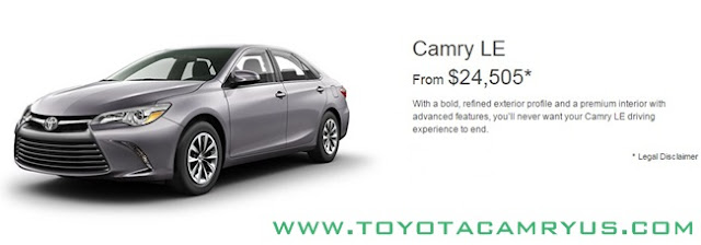 2017 Toyota Camry Sedan LE, SE and XLE / Hybrid Price