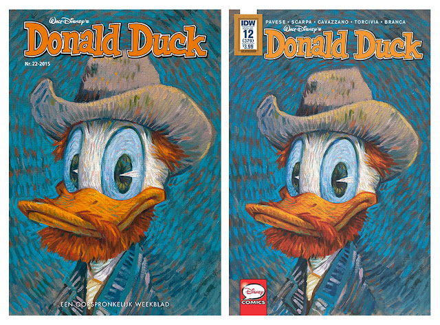Dutch Donald Duck #22/2015 and IDW's Donald Duck #12