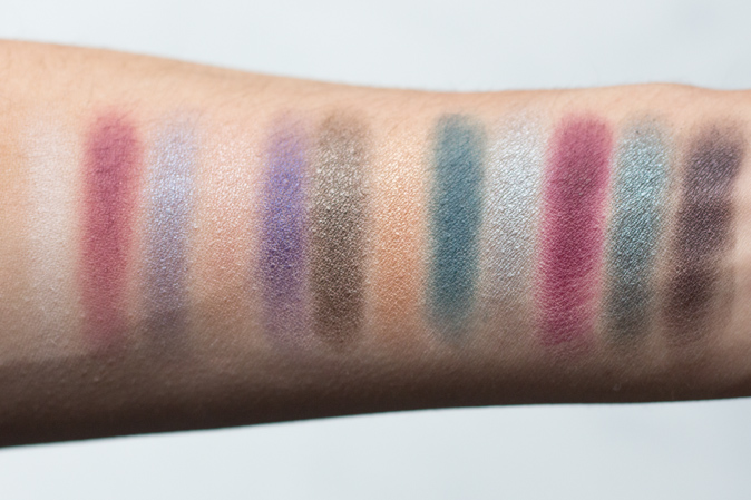 sleek idivine enchanted forest eyeshadow palette swatches