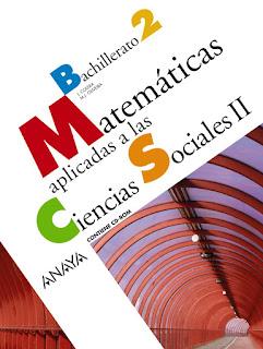 Libro Matemáticas Aplicadas a las Ciencias Sociales II 2º Bachillerato Anaya