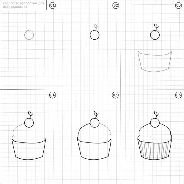 Learn to draw cake for kids