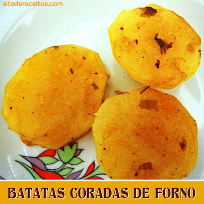 Batatas coradas de forno