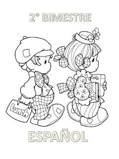 portada de español para colorear