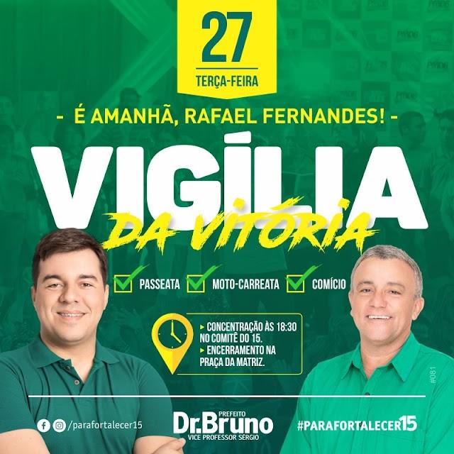 Bruno e Sérgio realizam nesta terça (27),  grande vigília em Rafael Fernandes