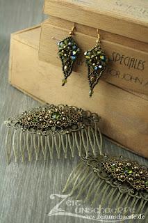 Kallaina - Ohrringe und Haarkämme mit Perlenbesatz | www.zeitunschaerfe.de