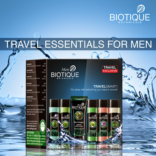 Travel Smart With Biotique | New Launch - Bio Travel Kit For Men   - Biotique