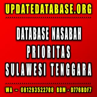Jual Database Nasabah Sulawesi Tenggara