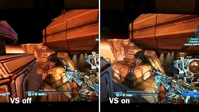 Vsync akan menyamakan frame rate untuk mencegah gambar patah/terbelah