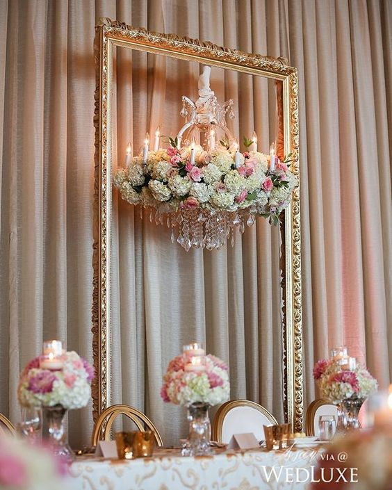 Wedding Head Table Flowers: ECTA Creative Solutions