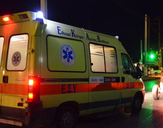 Τροχαίο ατύχημα τη νύχτα στο Άργος με δυο τραυματίες