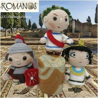 patron amigurumi Los romanos galamigurumis