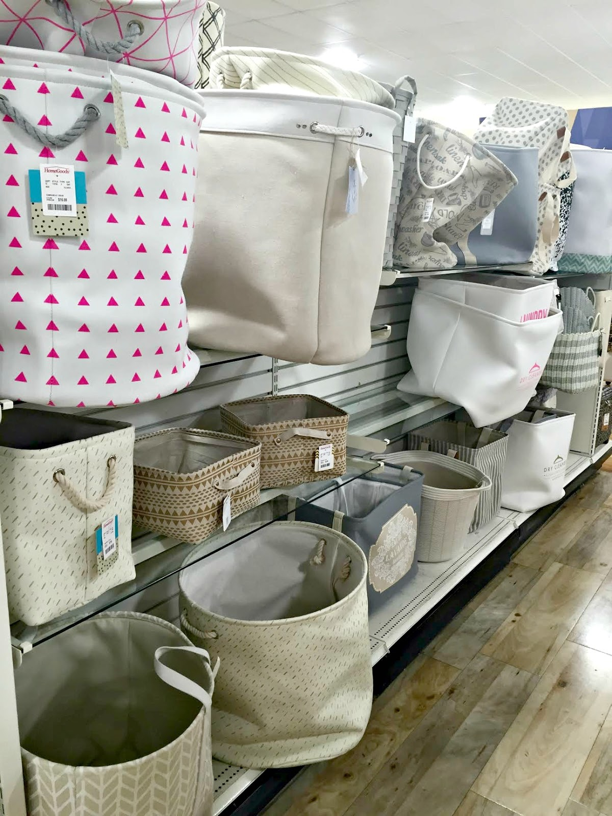 Canvas storage from HomeGoods. The five best items to shop at HomeGoods from Thrifty Decor Chick