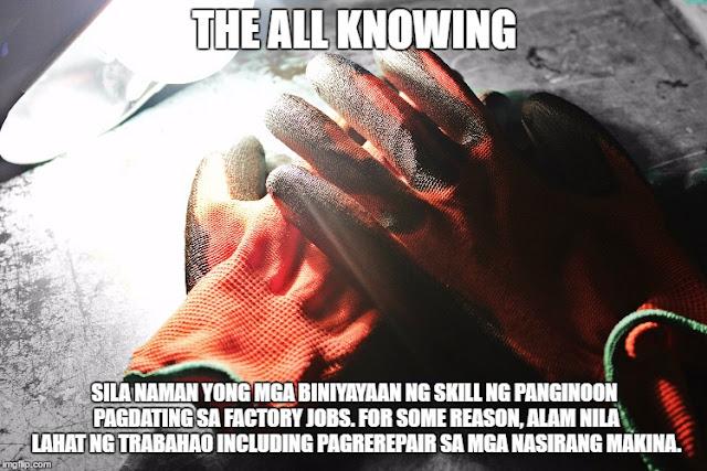 Mga Uri ng Pinoy Factory Workers sa Korea Memes