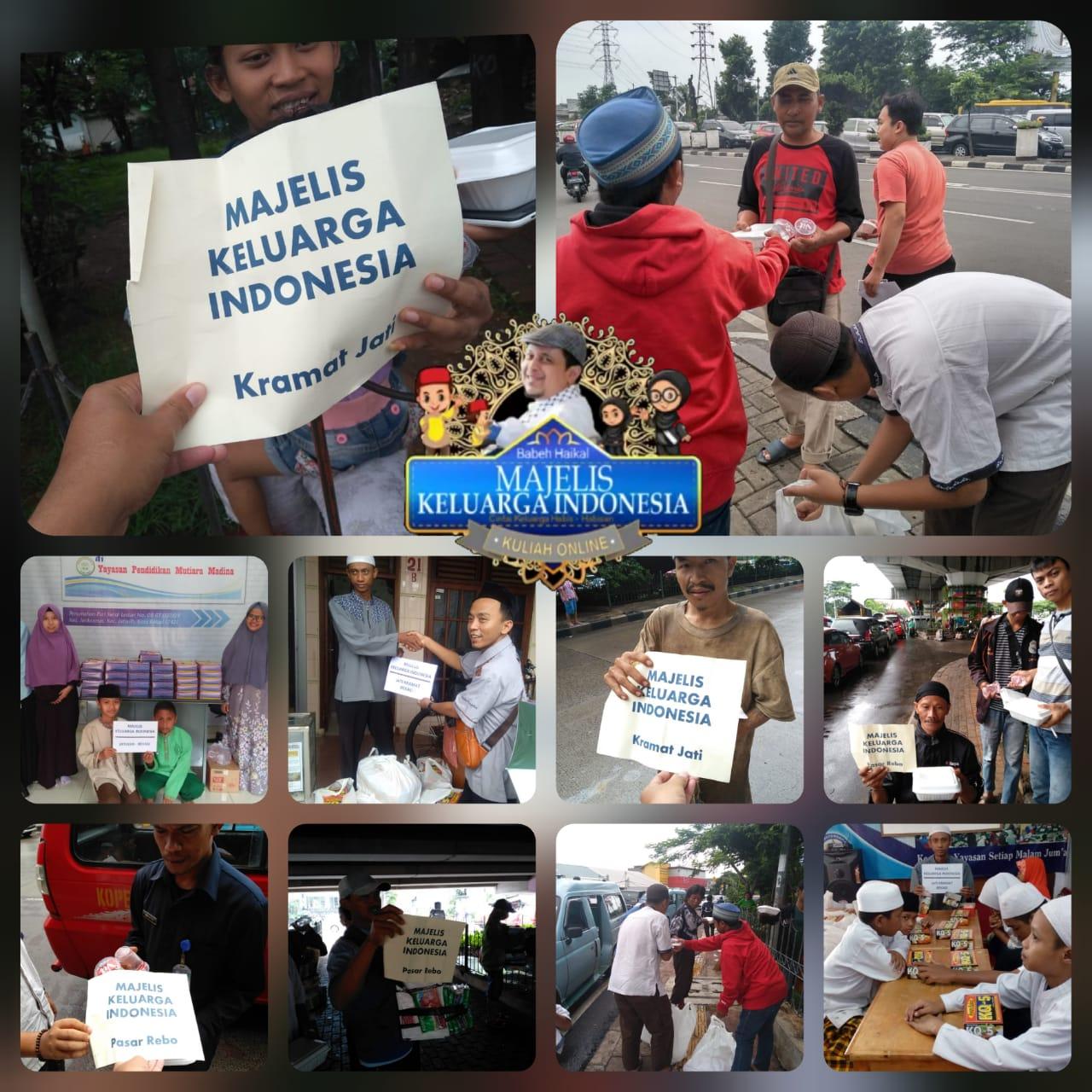 Ustadz Haikal Hassan dan Majelis Keluarga Indonesia Bagikan 500 Bungkus Nasi