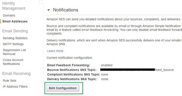 Amazon Simple Email Service (SES) - Bounce Emails |  net