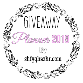 GIVEAWAY PLANNER 2019 by SHFYQHAZHR.COM, Blogger Giveaway, Blog, Hadiah, Planner 2019, Peserta,
