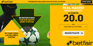 betfair supercuota liga Real Madrid gana Getafe 19 agosto