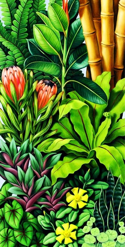 Cuadros modernos pinturas y dibujos cuadros en leo de flores verticales de catherine abel - Cuadros verticales modernos ...