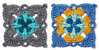 crochet granny scquares