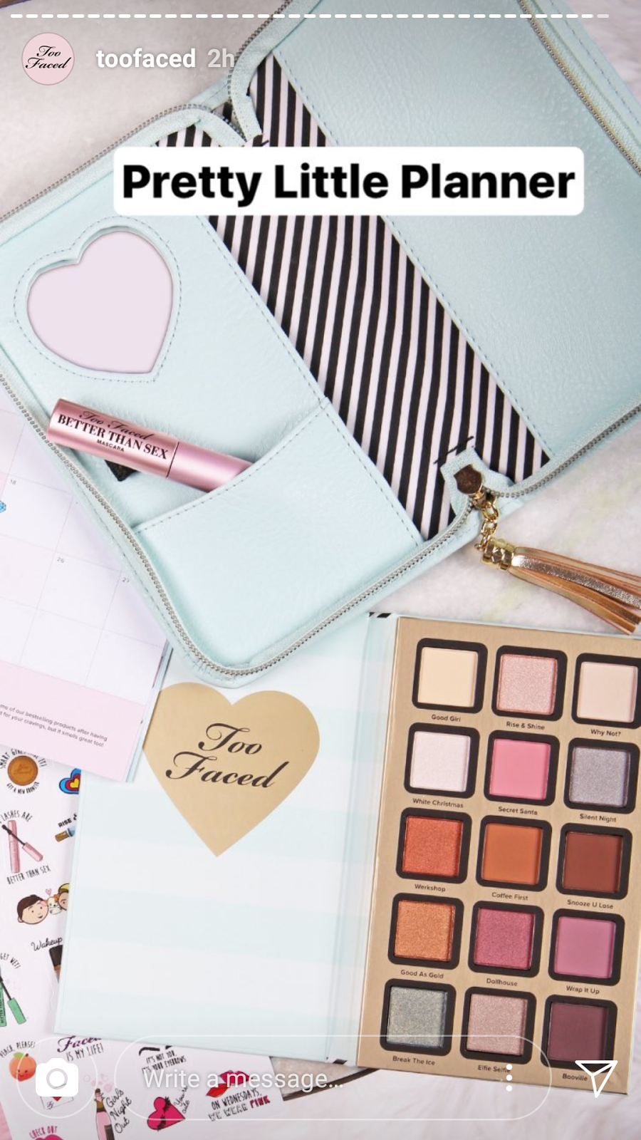 too faced best year ever makeup collection swatches