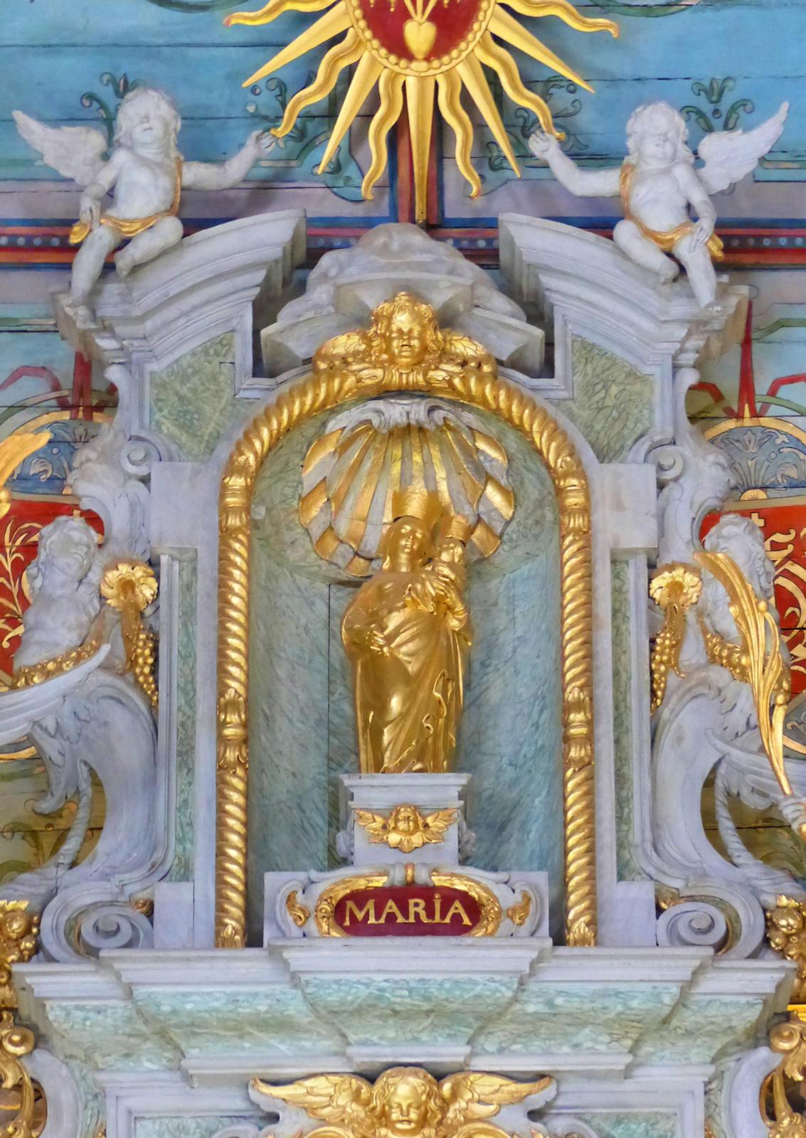 Photo Retable Chapelle Hospice d'Havré, Tourcoing - Statue de Marie