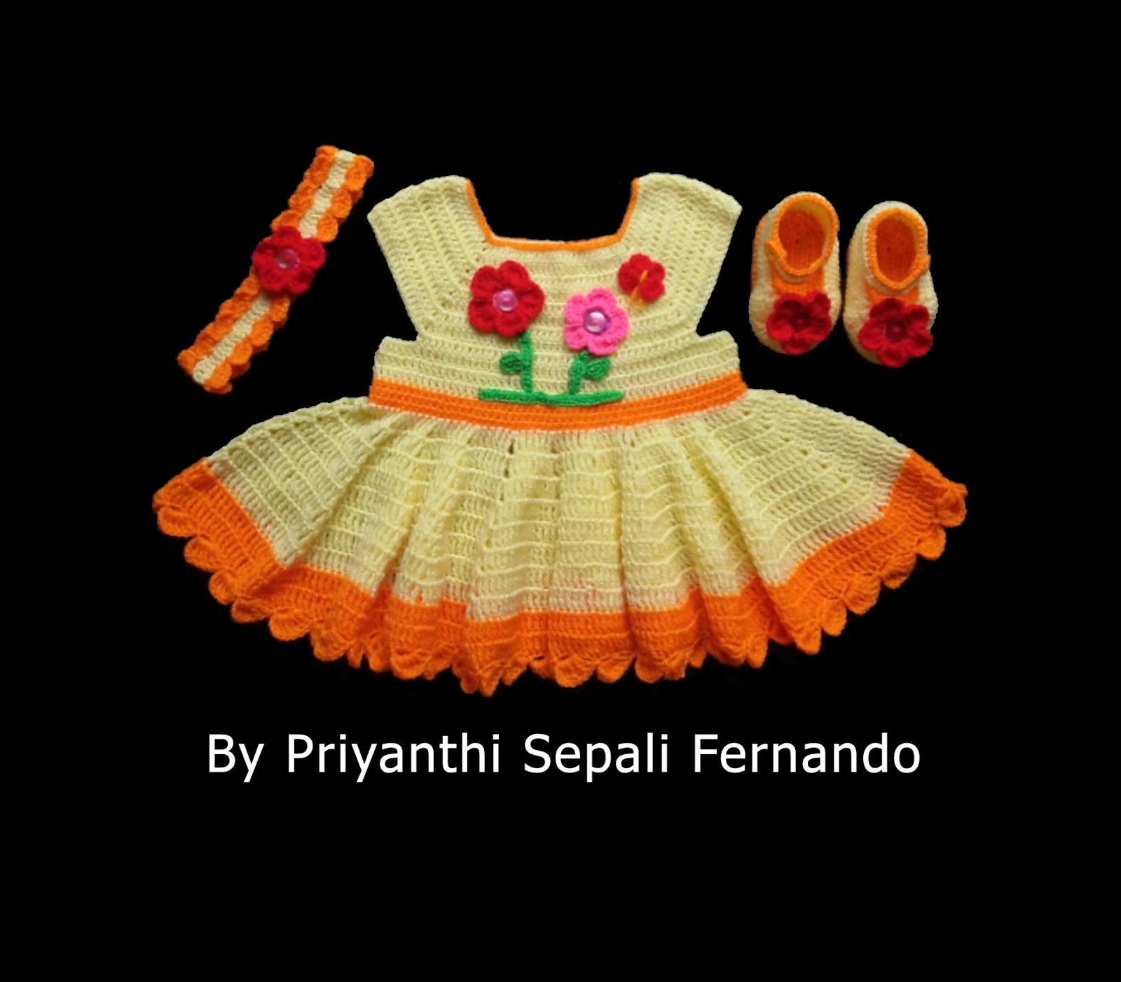 crochet-dress-yarn-orange-wool