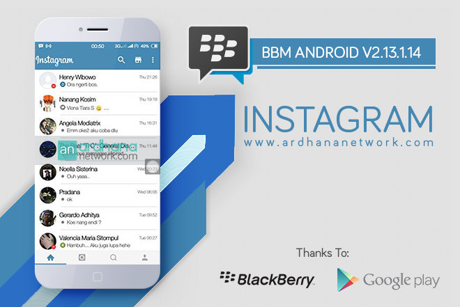 BBM Instagram V2.13.1.14 - BBM MOD Android V2.13.1.14