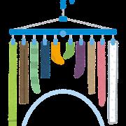 洗濯物の干し方のイラスト(アーチ干し)