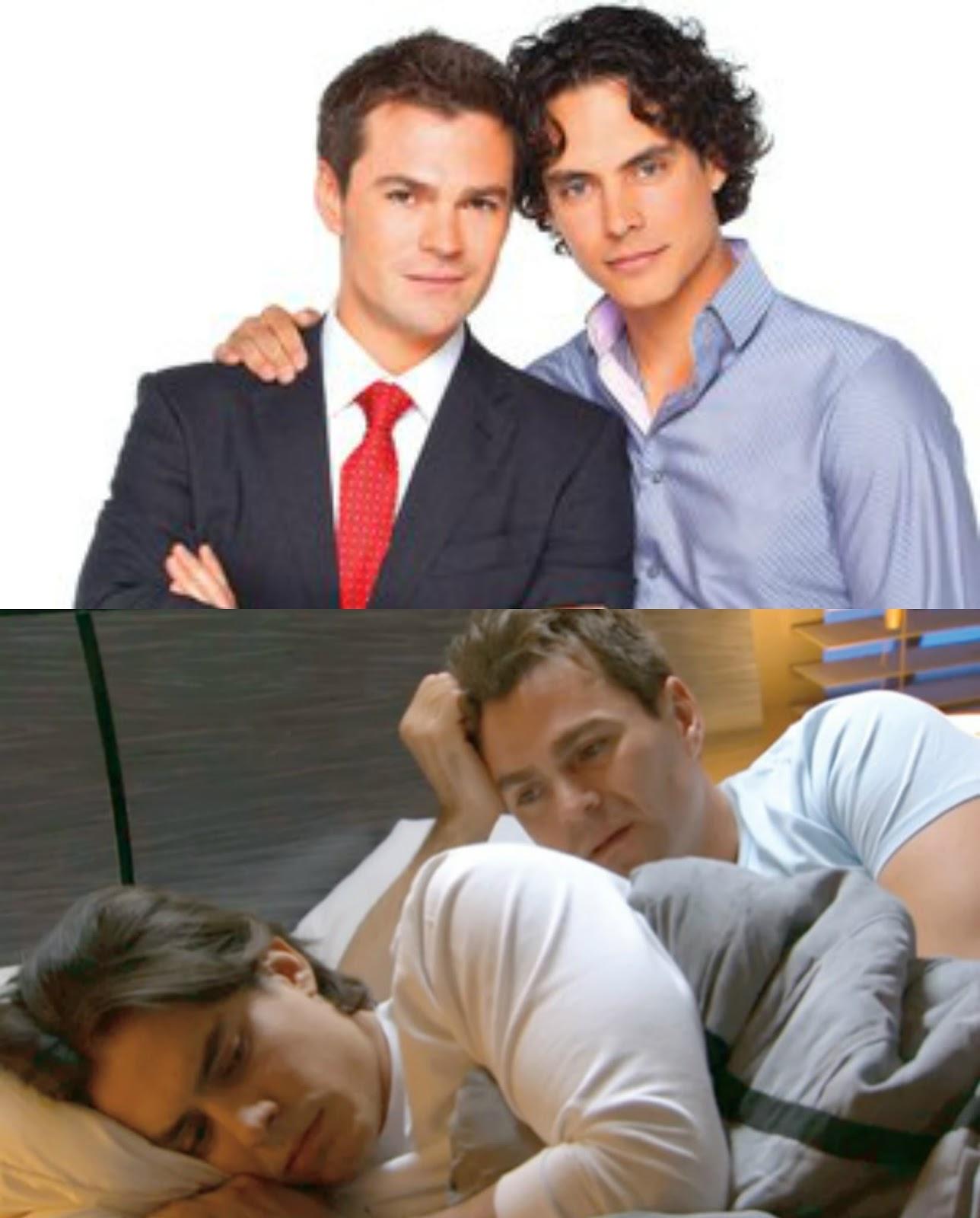 pareja gay de la telenovela