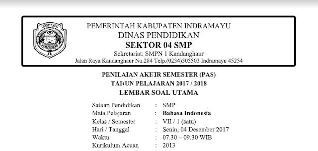 Kisi-kisi, Soal dan Kunci Jawaban Bahasa Indonesia Kelas 7 SMP Semester 1 & 2