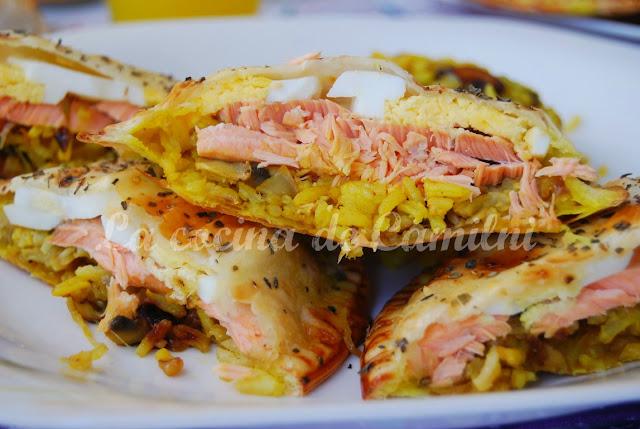 Kulibiak mini con obleas de empanadilla (La cocina de Camilni)