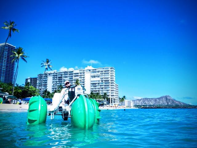 Aqua bike/trike rentals at Waikiki