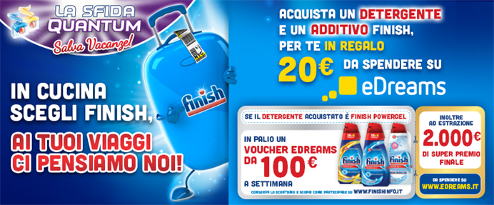 concorso ''finish salvavacanze'' con edreams