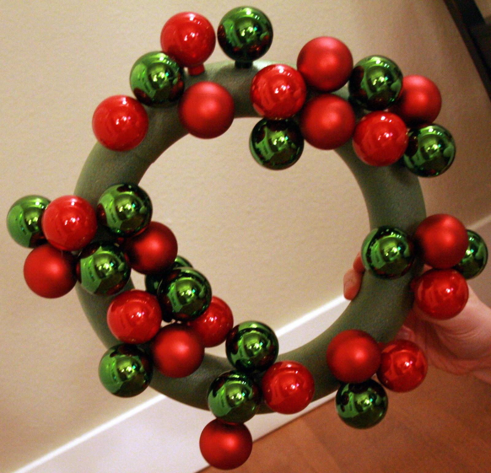 Vintage Christmas Ball Wreath Mercury Glass Wreath by ...  |Christmas Ball Wreath