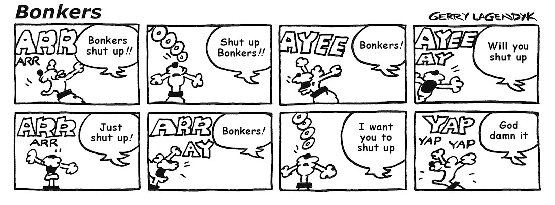 Bonkers, a barking dog cartoon