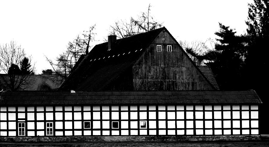 Blog + Fotografie by it's me! - fim.works - Magische Mottos - Strukturen & Rhythmen - SchwarzWeissBlick No 2 - Fachwerkhaus