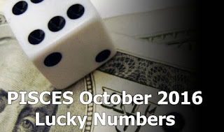 PISCES October 2016 Lucky Numbers Numerology
