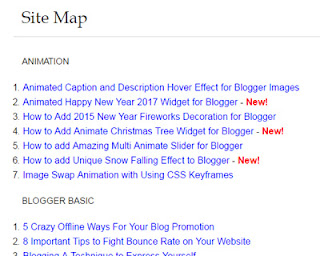 Sitemap-For-Blogger
