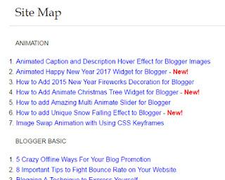 Sitemap-For-Blogger