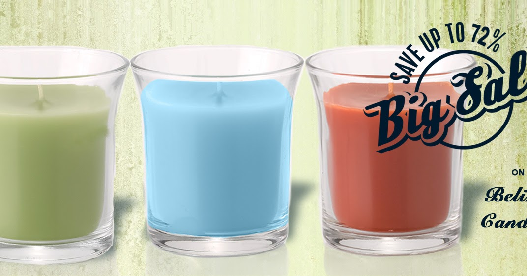 save up to 72 on belize candles. Black Bedroom Furniture Sets. Home Design Ideas