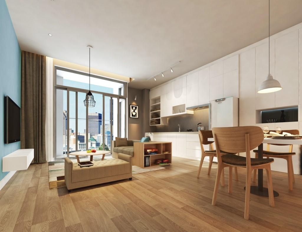 Nội thất căn hộ chung cư Goldlight Complex