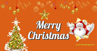 Merry Christmas greetings Santa Claus is coming