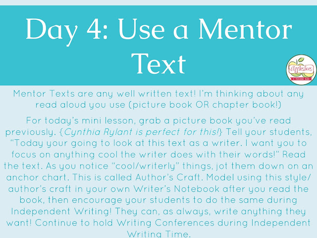 Using Mentor Texts