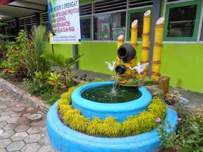 Gambar contoh konsep taman sekolah