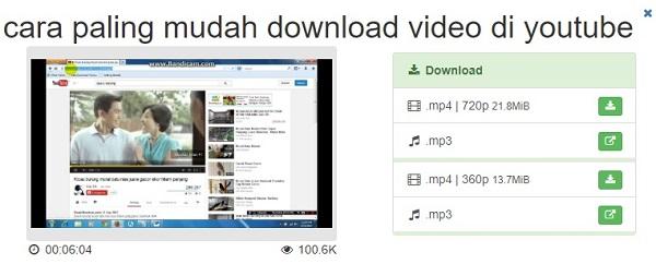 Cara Download Video Youtube Dengan Cepat