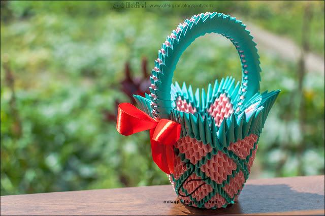 589. Koszyczek z origami / 3d origami basket