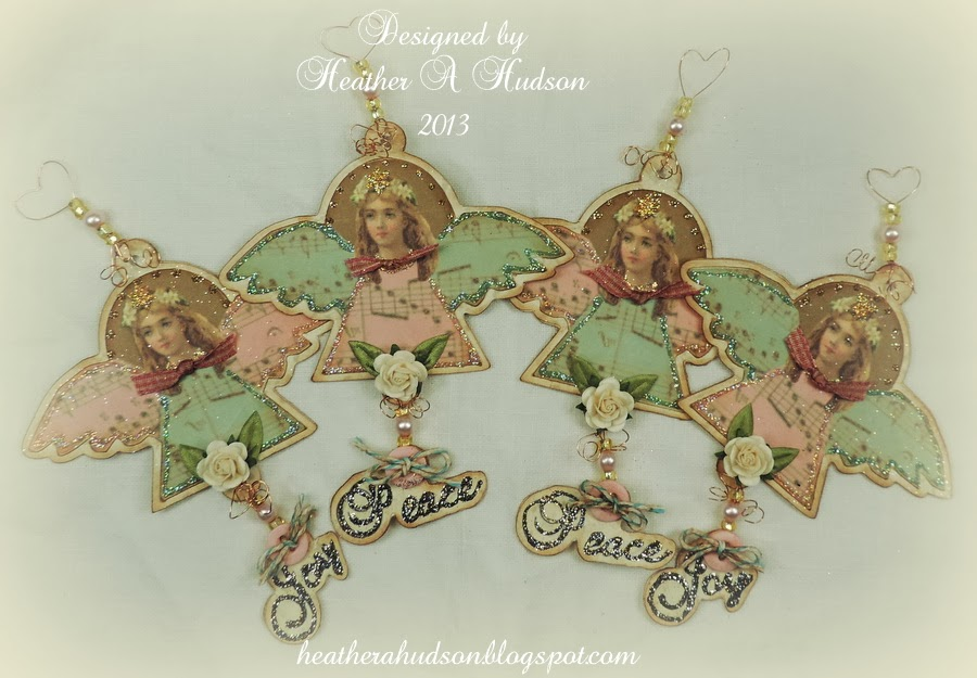 Heather A Hudson: Vintage Victorian Angels Ornaments Candy ...