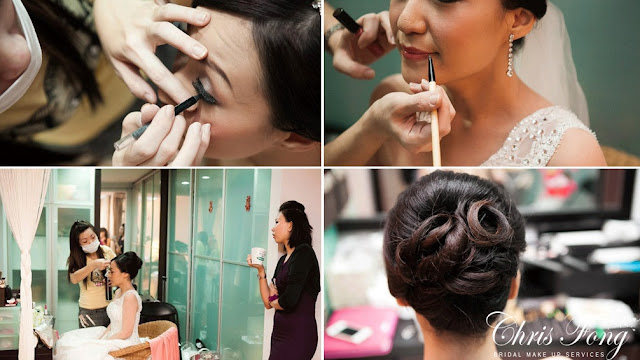 match overal shade lip color, classy twisted loop updo wedding
